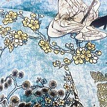 Geisha Japanese Pagoda Oriental Twill Floral