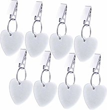 Gejoy Tablecloth Weights Hangers Heart Shape Stone