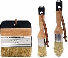 GeKLok 3pcs Chalk Paint Wax Brush Set,