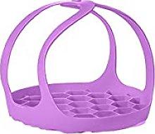 GeKLok Silicone Steamer Basket With Handles,