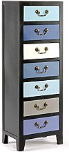Geko Blue Tall Cabinet with 7 Drawers 38 x 26 x