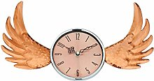 Geko Copper Winged Wall Clock with Glass Cover