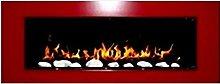 Gel and Ethanol Wall Fireplace White Elegant