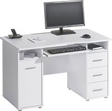Gelo Home Office Desk (Icy White), Free Standard