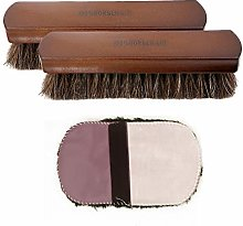 Geluode Shoe Brush Set, Soft Horsehair Bristles,