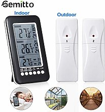 GEMITTO Digital Room Thermometer with 2 Sensors,
