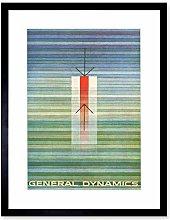 General Dynamics Lines Colour Blue Green Artwork