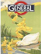 General Omnibus Easter Duck UK Travel Advert Large