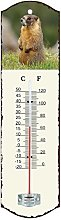 Generic 0501Metal Thermometer White 26.5x
