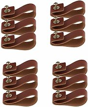 Generic 12x PU Leather Cabinet Pull Handle Drawer