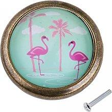Generic 5 Pcs Flamingo Bird Tropical Flowers