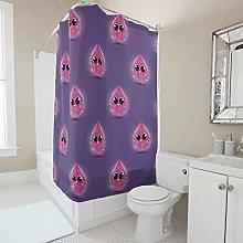 Generic Branded Cartoon Purple Pink Shower Curtain