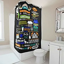 Generic Branded Durable Friends Shower Curtain
