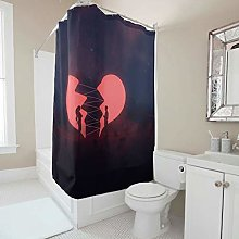 Generic Branded Heart Couple Shower Curtain With
