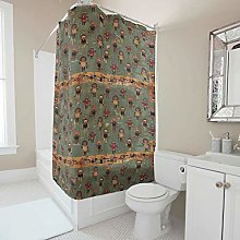 Generic Branded India Pattern Shower Curtain With