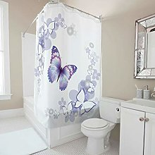 Generic Branded Premium butterfly Shower Curtain