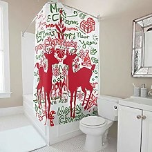 Generic Branded Premium Deer Shower Curtain