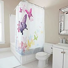 Generic Branded Quick Dry butterfly Shower Curtain