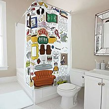 Generic Branded Quick Dry Collage Shower Curtain