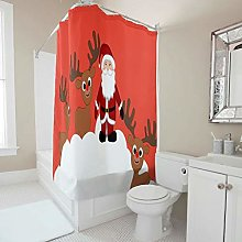 Generic Branded Waterproof Deers Shower Curtain