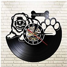 GenericBrands Retro Vinyl Record Wall Clock Cute