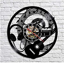 GenericBrands Retro Vinyl Record Wall Clock Drum