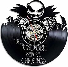 GenericBrands Retro Vinyl Record Wall Clock