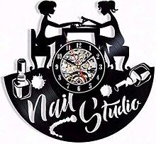 GenericBrands Retro Vinyl Record Wall Clock Nail