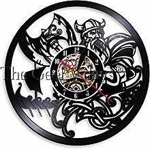 GenericBrands Vinyl Wall Clock Man with axe