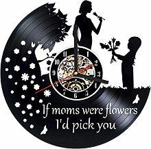 GenericBrands Vinyl Wall Clock Retro Record Home