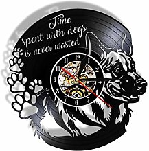 GenericBrands Vinyl Wall Clock Time with dogs