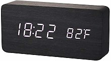 Generic Brands Wooden Digital Alarm Clock Square,