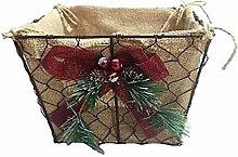 Generic Metal Christmas Basket with Christmas