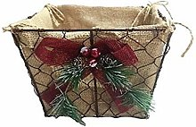 Generic Metal Christmas Basket with Decorations