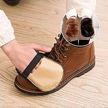 Generic Plush Shoe Gloves Wipe Mitt Suede Shoes