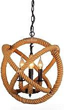 Generic Retro Country Style Unique Hemp Rope Orb