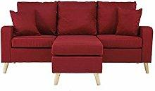 Generies Linen small space corner sofa L-shaped