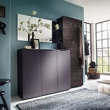 Genie Hallway Furniture Set 3 In Matt Anthracite