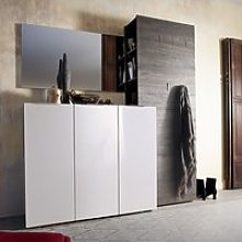Genie Hallway Furniture Set 4 In White High Gloss