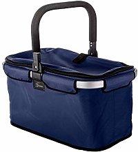 Genius Shopping basket Falko in blue, Aluminum, 48