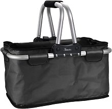 Genius Shopping basket foldable in black,
