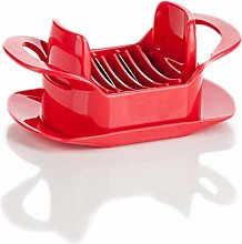 Genius Tomato and Mozzarella Slicer, Red, Fast and