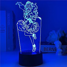 Genshin Impact Night Light 3D Illusion Lamp Hot