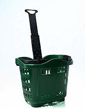 Genslide - Wheeled Shopping Basket - Green