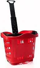 Genslide - Wheeled Shopping Basket - Red