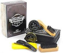 Gentlemen's Quarters 6 Piece Shoe Cleaning Kit