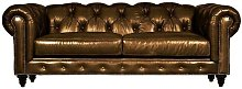 Genuine Leather 3 Seater Chesterfield Sofa