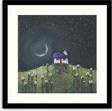 Geoff Beckett - 'Moonlit Flock' Framed