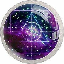 Geometric Art Blue Purple White Crystal Drawer