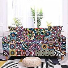 Geometric Bohemian Mandala Heart Sofa Cover